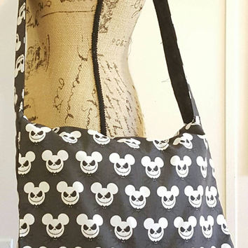 Mickey  - mouse  - Jack - skellington  - Nightmare  - before  - Christmas  - crossbody  - Messenger - bag