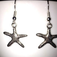 SALE: Silver Starfish Charm Earrings