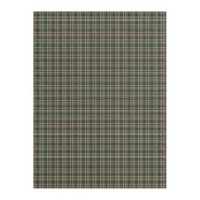 Dark Christmas Plaid Fleece Blanket