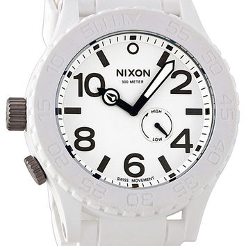 Nixon 51-30 White Rubber Mens Watch A236100