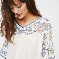 Free People Sunset Lovers Beaded Top