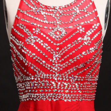 Red two shoulder rhinestones beading prom dresses,prom dress,long prom dress,bridesmaid dresses,evening dresses,bridesmaid dress,evening