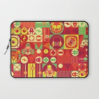 Electro Circus Laptop Sleeve by Chobopop
