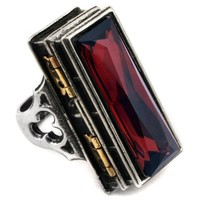 Pope Alexander's Poison Casket Ring - Alchemy Gothic Pewter Ring