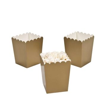 Gold popcorn boxes