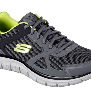 Skechers Track-Bucolo Charcoal/Lime Shoes