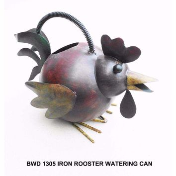 D Art Collection Iron Rooster Watering Can