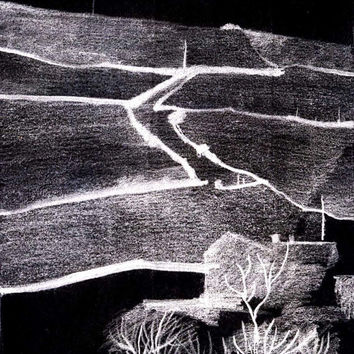 RIPPONDEN NIGHT - Fine Art - Landscape Drawing - Pencil Drawing - Contemporary Art - Digital File - Instant Download