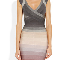 Hervé Léger | Degradé bandage dress | NET-A-PORTER.COM