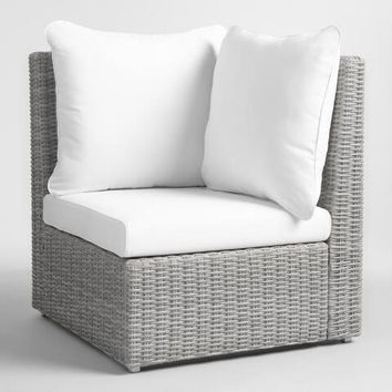 Gray All Weather Veracruz Outdoor Sectional Corner Chair