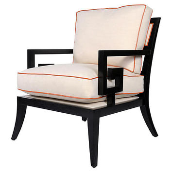 Santorini Lounge Chair, Alabaster/Orange - Accent Chairs - Chairs - Living Room - Furniture | One Kings Lane