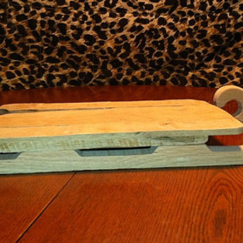 Sleigh Infant Photo Prop or Holiday Home Decor Made with Reclaimed Barn Wood