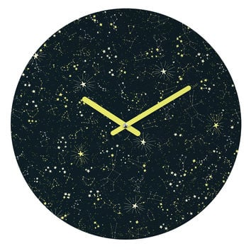 Joy Laforme Constellations In Midnight Blue Round Clock