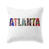 Society6 ATLANTA Throw Pillow