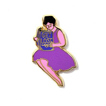 GET LOST (In A Book) Pin
