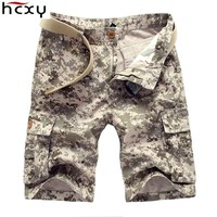 HCXY brand fashion style Shorts casual Camouflage Cargo Shorts Men Cotton work Shorts army beauty Shorts