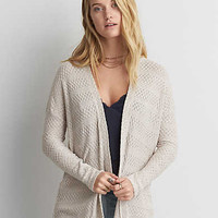 AEO Lightweight Textured Cardigan , Oatmeal