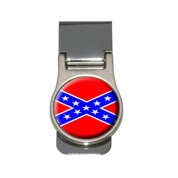 Confederate Rebel Flag Money Clip
