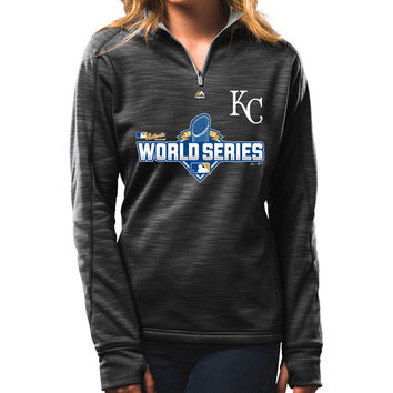 Kansas City Royals Women's 2015 Authentic Collection World Series Participant 1/4 Zip by Majestic Athletic - MLB.com Shop