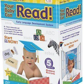 Your Baby Can Read! Early Language Development Titzer 1-5 DVD set, Word Cards