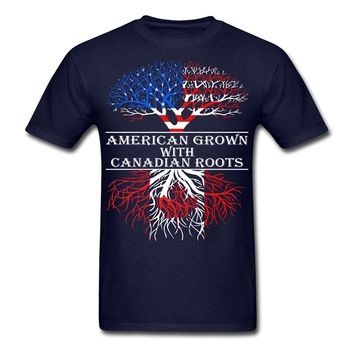 American Grown With Canadian Roots Men's T-Shirt