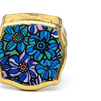 Vintage Stratton Pill Box - 1960's Jewelry - Vintage Pill Box - Stratton Pill Box - Hippie Pill Box - Gift For Her - Mom Gift - Holiday Gift