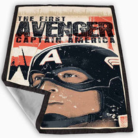 The First Avenger Captain America Blanket for Kids Blanket, Fleece Blanket Cute and Awesome Blanket for your bedding, Blanket fleece *