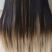 "Set of 8pc / 18"" Heat Resistant Blonde Ombre Synthetic Hair Extension"