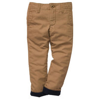 Jersey-Lined Canvas Pants
