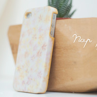 iphone case : painting golden floral