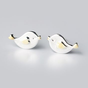 Lovely small bird  925 sterling silver earrings,a perfect gift
