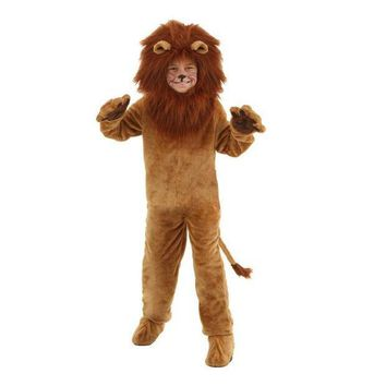 ESBON Child Deluxe Lion Costume Kids Animal Halloween Cosplay Costumes Fancy Wizard of Oz Movie Role Jumpsuits