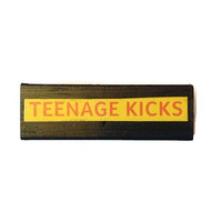 TEENAGE KICKS fridge magnet BLACK Recycled Retro Home Decor Unique Gift Idea