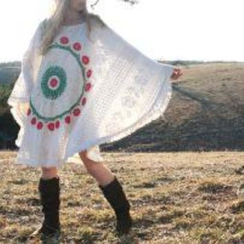 STARBURST Gypsy Poncho Cover Up Ooak by RubyChicOriginals on Etsy
