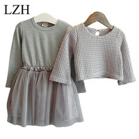 Girls Dress Winter 2016 New Children Clothing Girls Long sleeved Dress 2 Piece Knitted Dress Kids Tutu Dress For Girls Costumes-in Clothing Sets from Mother & Kids on Aliexpress.com | Alibaba Group