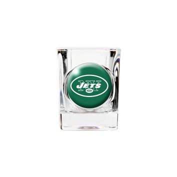 New York Jets 2oz Square Shot Glass - Etching Personalized Gift Item