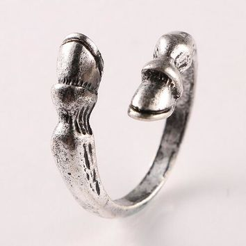 Fine Quality Fashion vintage horseshoe Resizable Ring for men women horse hoof animal ring jewelry