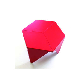 Noguchi Style Prismatic Table - Red