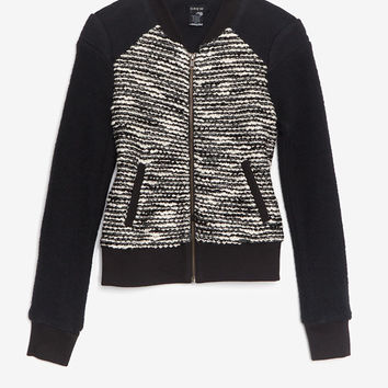 Drew EXCLUSIVE Boucle Zipper Jacket-Jackets + Outerwear-Clothing-Categories- IntermixOnline.com