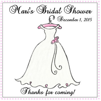 Bridal Shower Thank You Tags