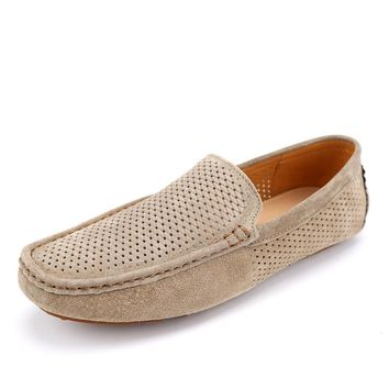 Breathable Holes Casual Slip On Driving Shoes