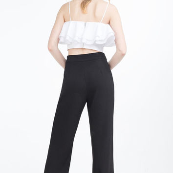 WIDE-LEG BUTTONED TROUSERS