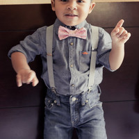 Boys Easter Bow Tie, Toddler Bow Tie and Suspenders, Easter Bow Tie, Baby Bow Tie Suspenders, Suspenders and Bow Tie for Boys