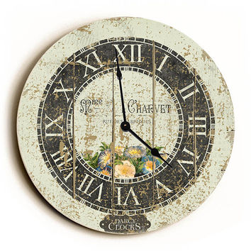 White French Style Unique Wall Clock by Dickery Dock