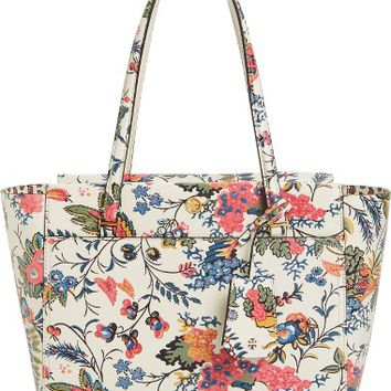 Tory Burch Small Parker Floral Leather Tote | Nordstrom