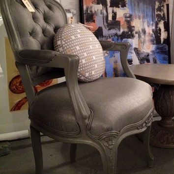 Beautiful Antique French Bergere Arm Chair
