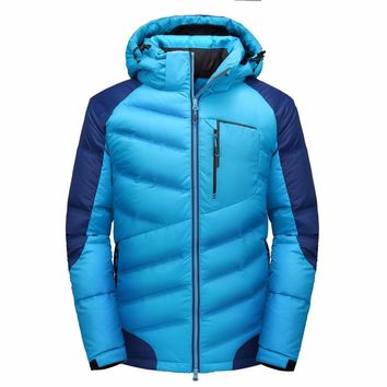 IN-YESON Down Jacket Men high quality Winter jacket men 90% white duck down coat windbreaker brand clothing thickening warm down