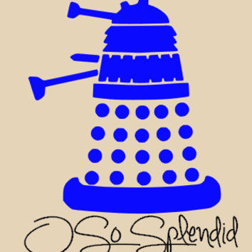 Dalek  Vinyl Wall Decal - Exterminate! - Doctor Who Inspired Wall Decal - Small & Medium