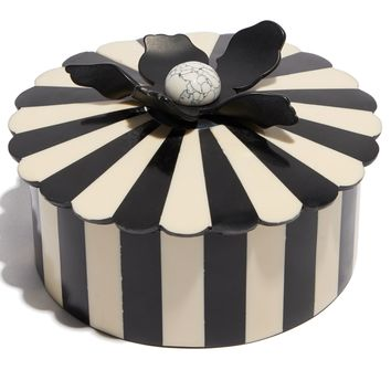 STRIPED LILY CANDY DISH
