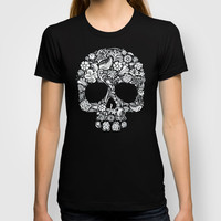 Sugar Skull flower pattern iPhone 4 4s 5 5s 5c, ipod, ipad, pillow case and tshirt T-shirt by Three Second | Society6
